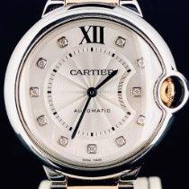Cartier Ballon Bleu 36mm Or/Acier 36mm Blanc Romain