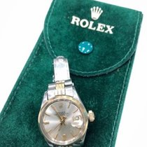 Rolex Oyster Perpetual Lady Date Goud/Staal 26mm Zilver Geen cijfers Nederland, Beverwijk