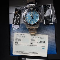 Seiko Marinemaster Steel 44mm Blue No numerals