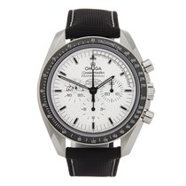 Omega Speedmaster Professional Moonwatch Acero 42mm Blanco Sin cifras