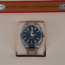 Omega Steel Automatic Blue No numerals 41.5mm pre-owned Seamaster Aqua Terra