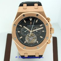 Audemars Piguet Royal Oak Tourbillon pre-owned 44mm Black Chronograph Tourbillon Year Crocodile skin