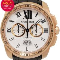 Cartier Calibre de Cartier Chronograph Roségold 42mm Silber Römisch