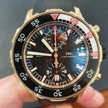 IWC Pозовое золото Автоподзавод Чёрный Без цифр 44mm подержанные Aquatimer Chronograph