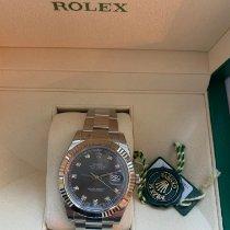 Rolex Datejust II Otel 41mm Albastru Fara cifre