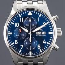 IWC Fliegeruhr Chronograph Stahl 43mm Blau Arabisch Deutschland, Essen