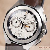 Girard Perregaux Chrono Hawk occasion 44mm Argent Chronographe Date Cuir