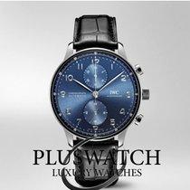 IWC Portugieser Chronograph Stahl 41mm Blau Arabisch