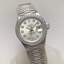 Rolex Lady-Datejust Platine Argent Sans chiffres