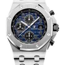 Audemars Piguet Platin Automatik Blau 42mm neu Royal Oak Offshore Chronograph