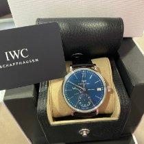 IWC Portofino Hand-Wound Сталь 45mm Синий Римские