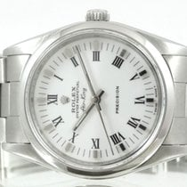 Rolex Air King Precision Otel 34mm Alb Roman
