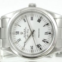 Rolex Air King Precision Acier 34mm Blanc Romain France, Paris