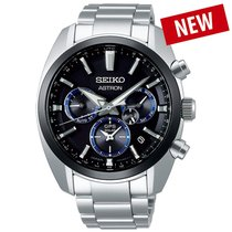 Seiko Astron GPS Solar Steel 43mm Black