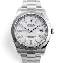 Rolex Datejust II Steel 41mm White No numerals