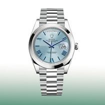 Rolex Platinum Automatic Blue Roman numerals 40mm new Day-Date 40