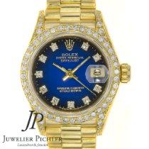 Rolex Lady-Datejust Or jaune 26mm Bleu Sans chiffres