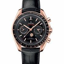 Omega Speedmaster Professional Moonwatch Moonphase Oro rosado Negro