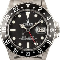 Rolex Silver Automatic Black No numerals 40mm pre-owned GMT-Master