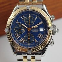 Breitling Crosswind Racing Acero y oro 42mm Azul