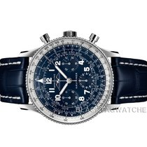 Breitling Platinum Manual winding Blue Arabic numerals 41mm new Navitimer