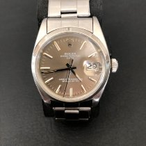 Rolex Oyster Perpetual Date pre-owned 34mm Brown Date Steel