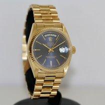 Rolex Day-Date 36 Жёлтое золото 36mm Синий Без цифр