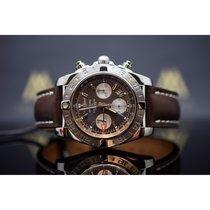 Breitling Chronomat 44 GMT Stahl 44mm Braun
