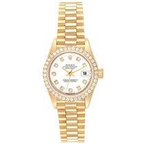 Rolex Lady-Datejust Gelbgold 26mm Weiß