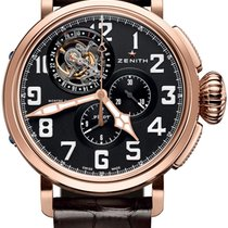 Zenith Pilot Type 20 Tourbillon Or rose 48mm Noir Arabes