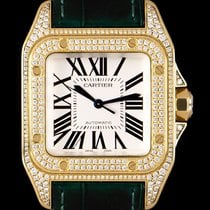 Cartier Santos 100 pre-owned 33mm Silver Leather