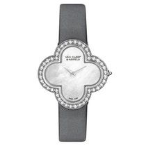 Van Cleef & Arpels Alhambra White gold 30mm Mother of pearl No numerals