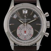 Patek Philippe Annual Calendar Chronograph 5960P Zeer goed Platina 40.5mm Automatisch