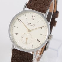 NOMOS Tangente 33 Staal 32,8mm Champagne Arabisch