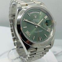 Rolex Day-Date 40 Platina 40mm Groen Romeins Nederland, Amsterdam