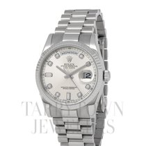 Rolex White gold Automatic Silver 36mm new Day-Date 36