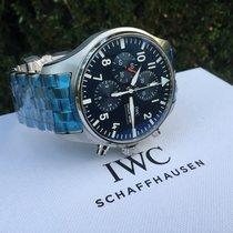 IWC Pilot Chronograph Stål 43mm Blå Arabertal