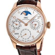 IWC Portuguese Perpetual Calendar Rose gold 44.2mm Silver United States of America, New York, Brooklyn