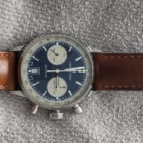 Hamilton Intra-Matic pre-owned 40mm Blue Chronograph Date Leather