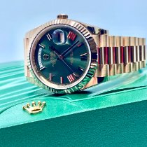 Rolex Oro rosa Automático Verde 40mm nuevo Day-Date 40