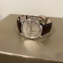 Jaeger-LeCoultre Master Ultra Thin Date pre-owned 40mm Silver Date Crocodile skin