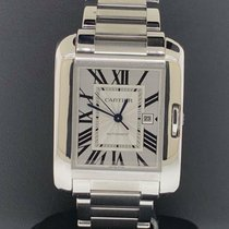 Cartier Tank Anglaise pre-owned 39.2mm Silver Date Steel