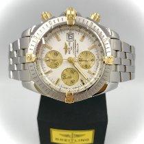 Breitling Chronomat Evolution begagnad 44mm Vit Kronograf Datum Guld/Stål