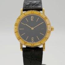 Bulgari Yellow gold Quartz Black Arabic numerals 33mm pre-owned Bulgari