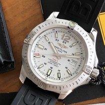 Breitling Colt 44 occasion 44mm Blanc Chronographe Date Caoutchouc