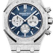 Audemars Piguet Royal Oak Chronograph Or blanc Bleu