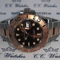 Rolex Yacht-Master 40 Guld/Stål 40mm Brun