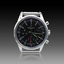 Breitling Transocean Chronograph GMT Acero 42mm Negro Sin cifras