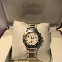 Cartier 21 Chronoscaph Acier Blanc