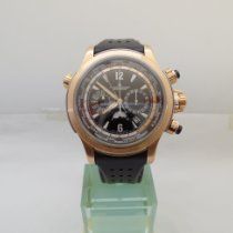 Jaeger-LeCoultre Or rose Remontage automatique Noir Arabes 46mm occasion Master Compressor Extreme World Chronograph